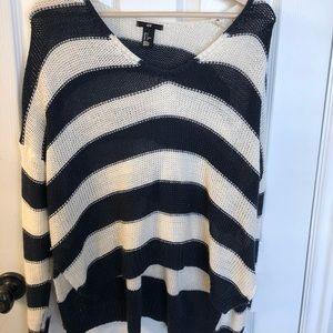 Oversized striped sweater